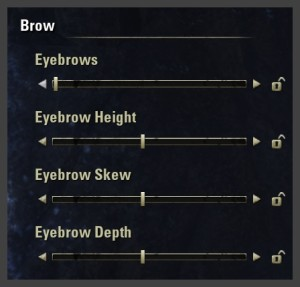 Character creation - Eyebrow sliders