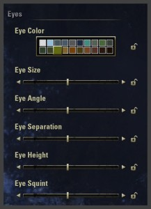 Character creation - eye design