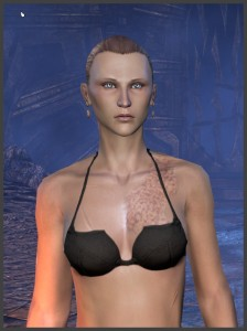Imperial Female - Body Marking - Burn scars